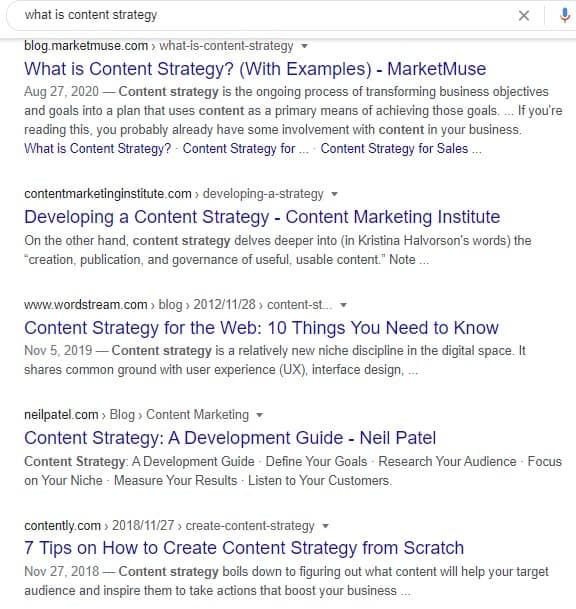 content is king in seo the truth - what is content strategy serps