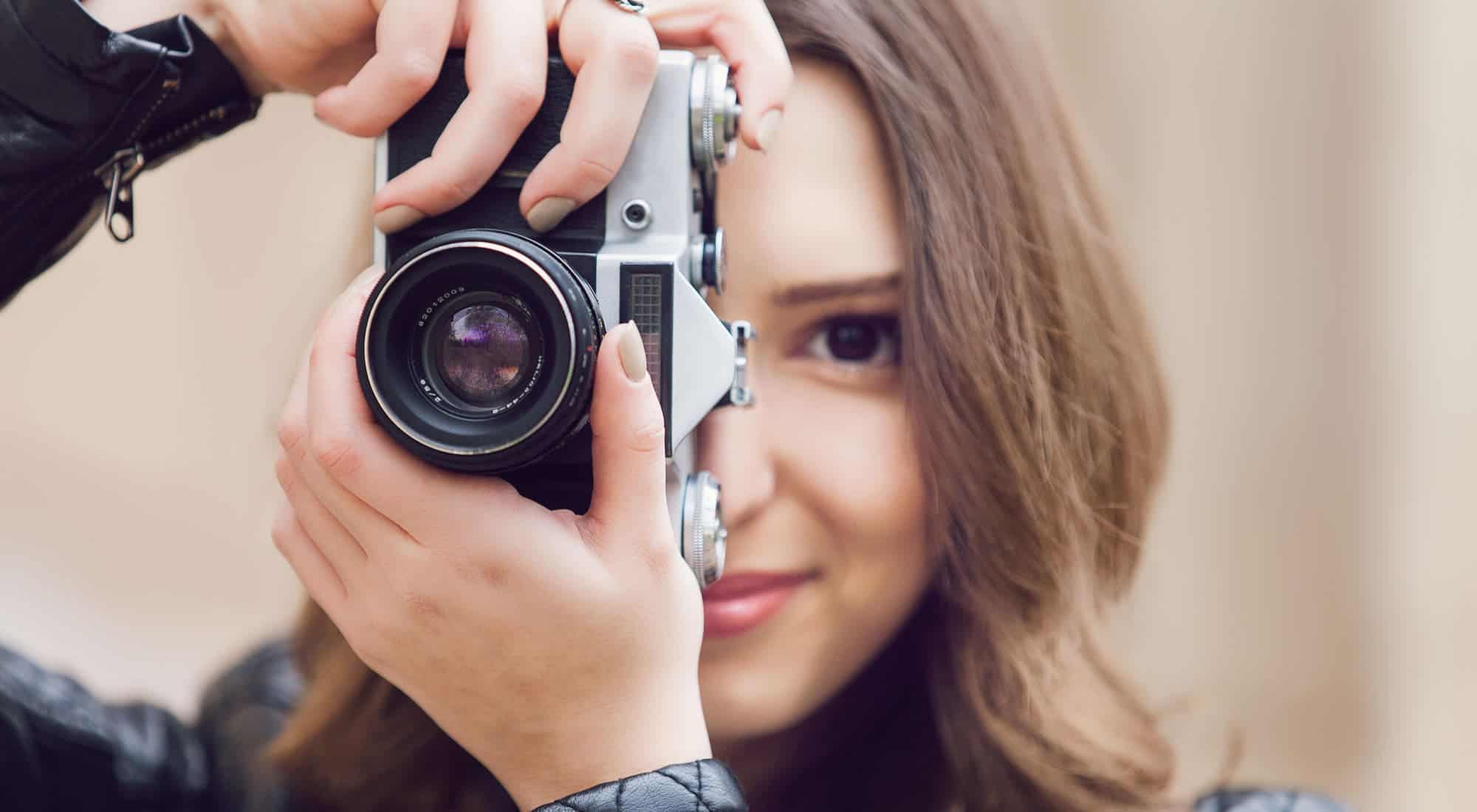 picture of a woman taking a picture