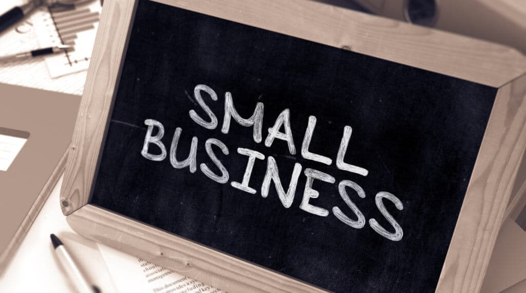 why your business needs seo - small business sign